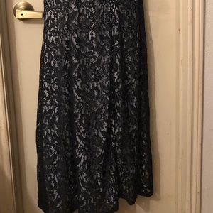 Sequin Hearts Dresses - Black lace floor length prom formal dress sz 5
